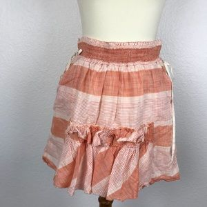 Banana Republic Cotton Striped Side Pocket Skirt